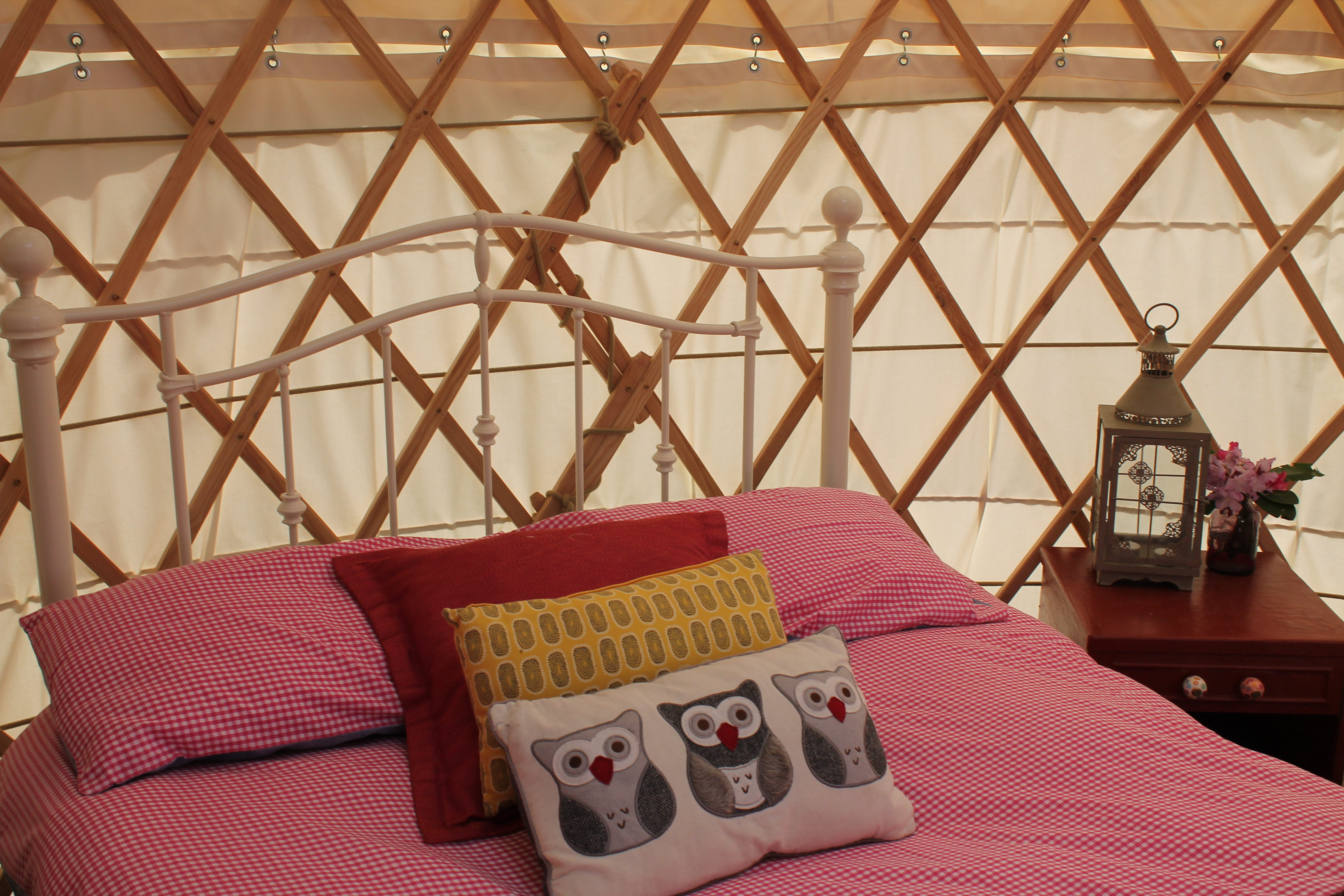 Glamping inside a bell tent in Wicklow